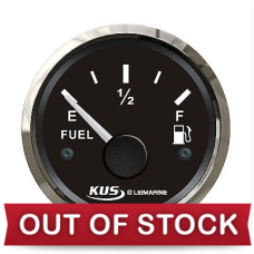 Fuel level indicator with chromed bezel