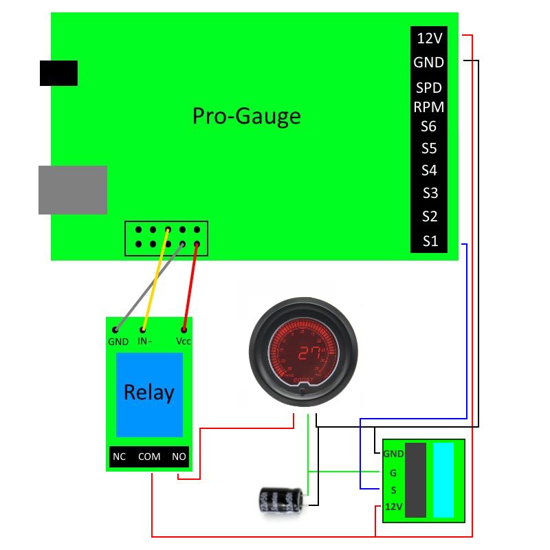 DRAGON GAUGE LCD Turbo Boost gauge | Dragon Boost Gauge Wiring Diagram |  | SymProjects